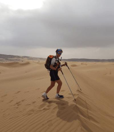 Francesca Billi nel deserto
